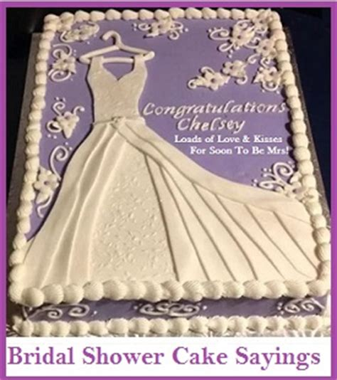 Sayings To Put On Bridal Shower Cakes by Classic Cake Wordings Bridal Shower Cake
