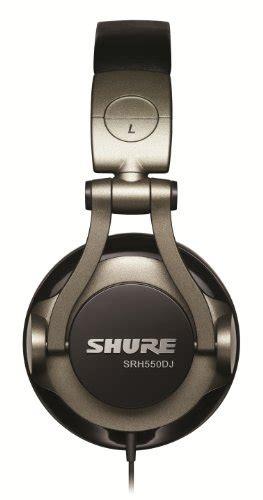 shure srh550dj professional quality dj headphones smokey