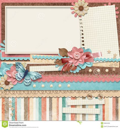 retro family album 365 project scrapbooking templates