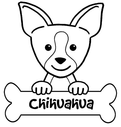 Chihuahua Colouring Pages Chihuahua Coloring Page For Kids Coloring Home by Chihuahua Colouring Pages