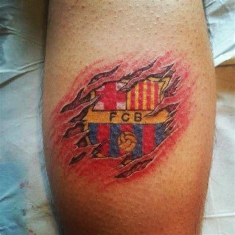 Tattoo 3d Barcelona | tatuaje futbol club barcelona 3d fcb tatuatges