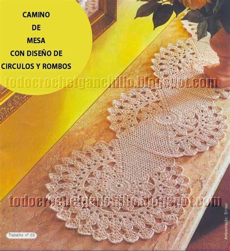 camino de mesa a crochet camino de mesa crochet con dise 241 o de c 237 rculos y rombos