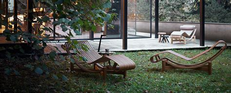 Brass Upholstery Studs 522 Tokyo Chaise Longue Outdoor By Charlotte Perriand