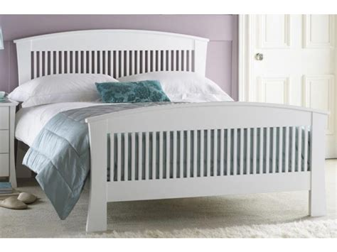 White Kingsize Bed Frame Hton Kingsize White Wooden Bed Frame Wooden Pine Beds