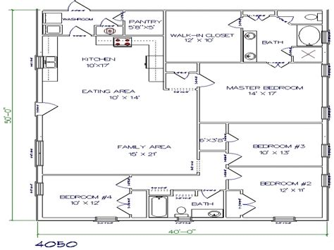 40 x50 house plans texas barndominium floor plans 40x50 metal building house