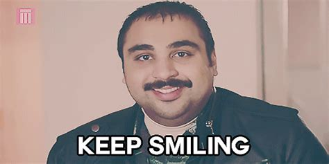 Keep Smiling Meme - bbc three smile gif by bbc find share on giphy