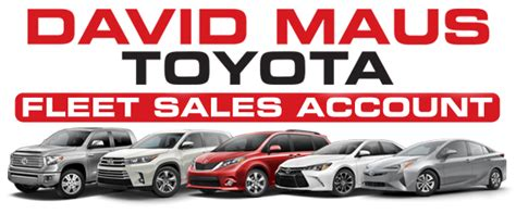David Maus Toyota Rental Toyota Commercial Fleet Sales Serving Orlando Cars
