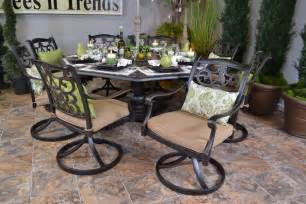 Hanamint outdoor furniture chateau octagonal inlaid lazy susan table