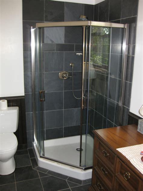 Black Shower by Large Tiles Showers Studio Design Gallery Best Design