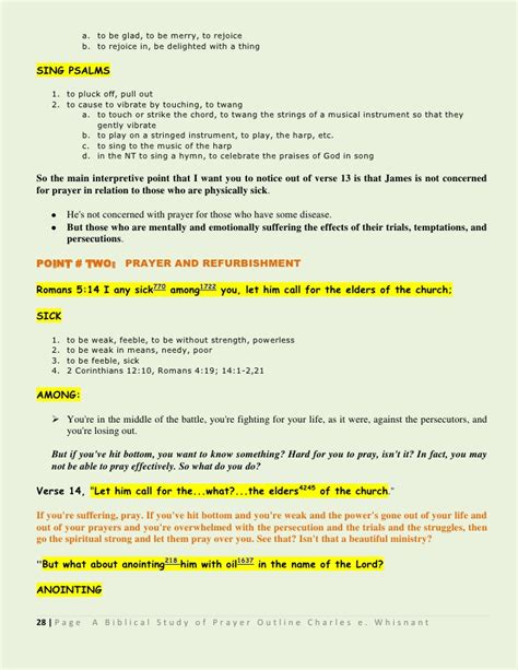 Romans Chapter 3 Outline by A Biblical View Of Prayer Series Outline