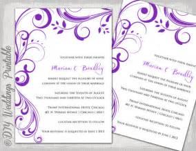 Wedding Scroll Template by Wedding Invitation Templates Purple Scroll