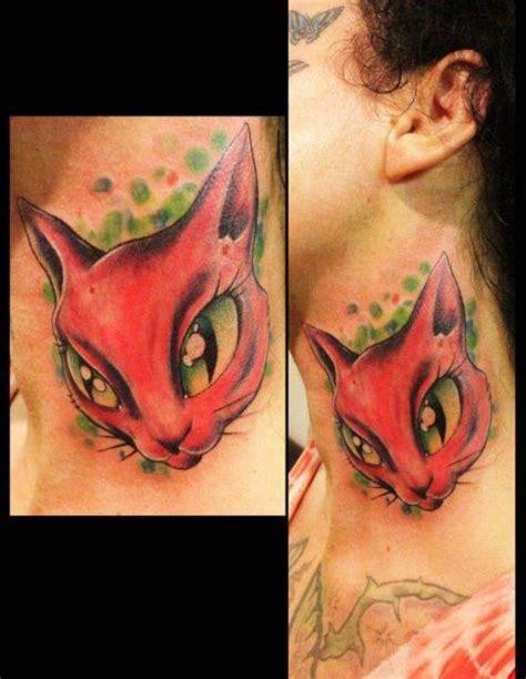 extreme fantasy tattoo fantasy neck cat tattoo by extreme needle