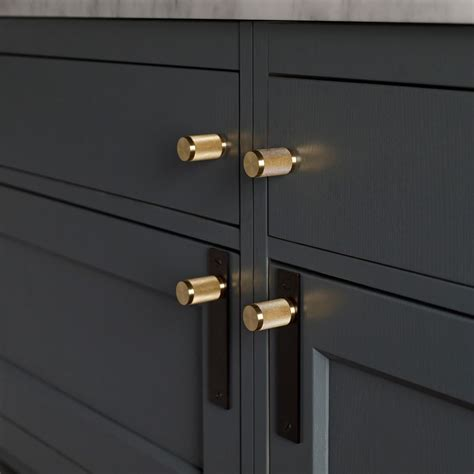 kitchen door furniture furniture handle smoked bronze brass buster punch