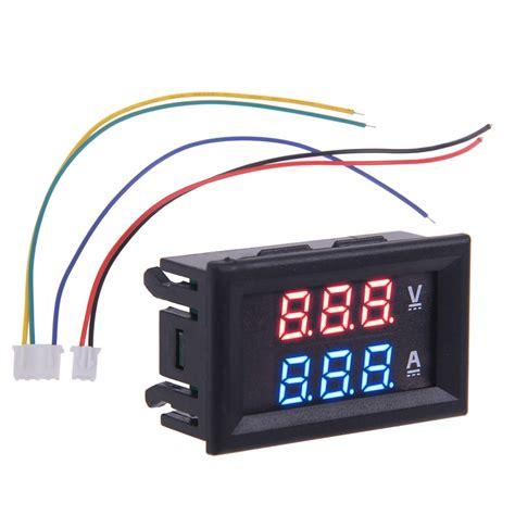 Voltmeter Auto by 100v 100a Dc Car Auto Digital Voltmeter Ammeter Led