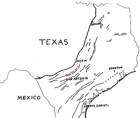 map of texas fault lines guidebook to the geology of travis county