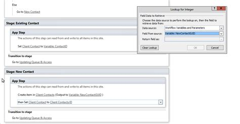 sharepoint workflow lookup field sharepoint designer assign id of workflow created list