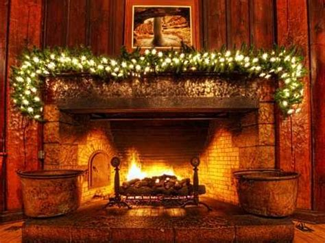 christmas fireplace pictures spruce   stone