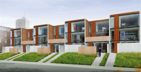 modern row house on street parking with curb appeal arthouse st louis 7