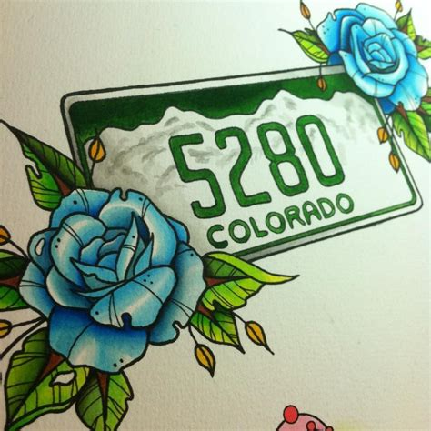 watercolor tattoo flash mile high city flash watercolor my