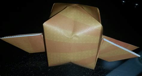 Origami Golden Snitch - origami golden snitch winged balloon by chitanoyume on