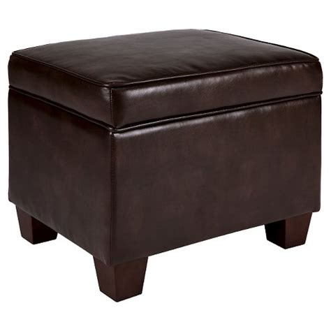 ottoman with storage target threshold bonded leather storage ottoman target