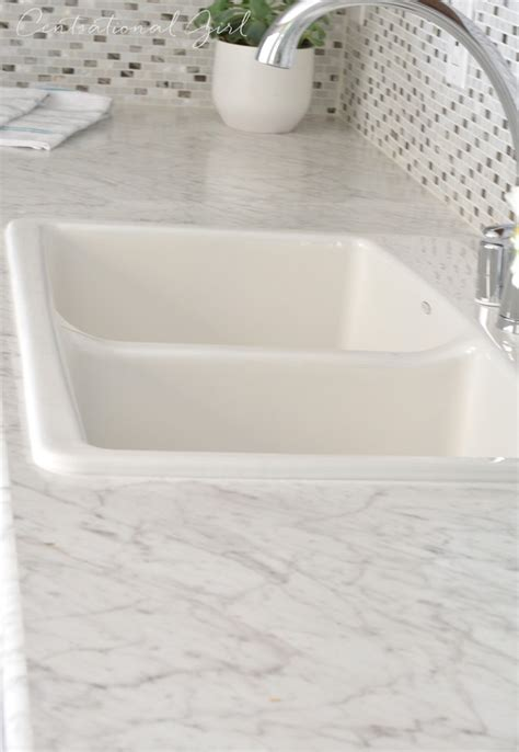 Bianco Carrara Countertop by Formica Marble Look Kitchen Countertops Toskey House
