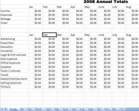 yearly expense report template best photos of monthly expense report excel business