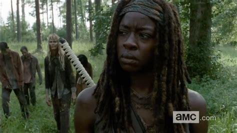 Walking Dead Michonne michonne in the walking dead s most talked about from the mid season premiere