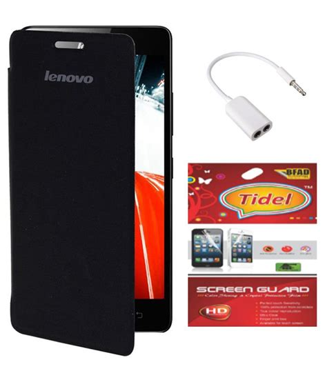 Speaker Lenovo A6000 tidel black flip cover for lenovo a6000 plus with tidel screen guard audio splitter buy