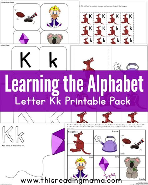 printable alphabet readers learning the alphabet letter k printable pack this