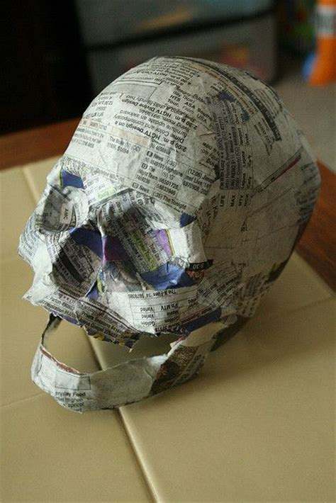 How To Make Paper Mache With Newspaper - paper mache skulls i can do that if i wanted