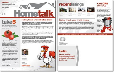 Hometalk Newsletter Template Issue 2 Real Estate Newsletter Templates