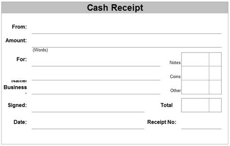 receipt for receipt printer template free receipt forms