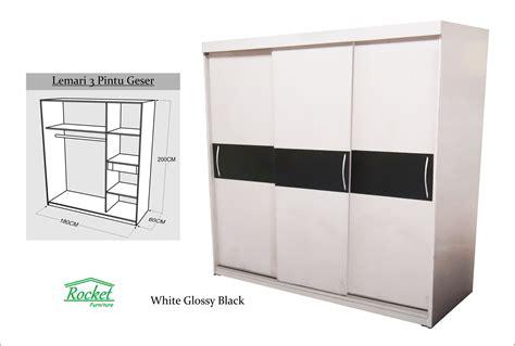 Lemari Pakaian Sliding Door 4 Pintu Hpl Coklat Kayustrip Crm Ls432 2ct jual lemari pakaian sliding door 3 pintu hpl white