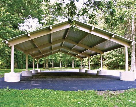 pavillon dach all steel single roof rectangle pavilions