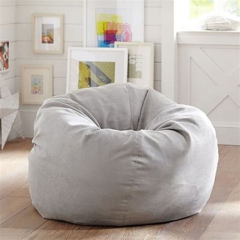 grey bean bag chair pb light grey suede beanbag slipcover only at