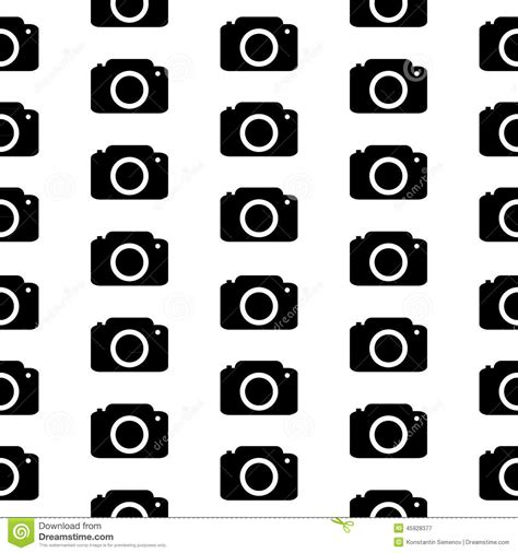 pattern background camera camera symbol seamless pattern stock illustration