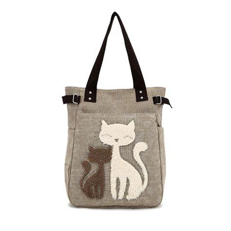 Tegel Tote Bag By Toton k 246 p kvinnor canvas handv 228 ska gullig katt knuffar h 228 nger