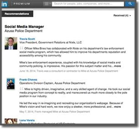 linkedin recommendation sle for manager cover letter