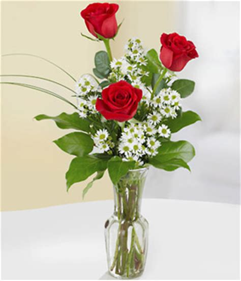 fresh 3 roses in vase three roses in a vase to china