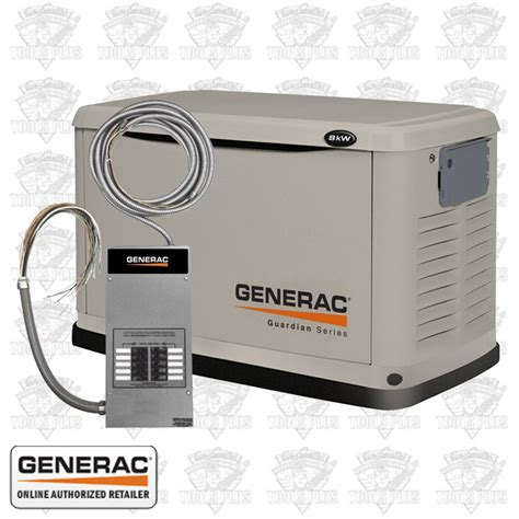 generac 6237 8 000 7 000 watt air cooled standby generator