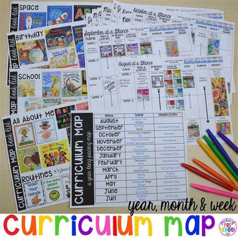 kindergarten themes for june curriculum map preschool pre k and kindergarten for