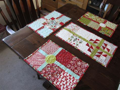 pattern christmas placemats christmas tea by sky high fibers quilting pattern