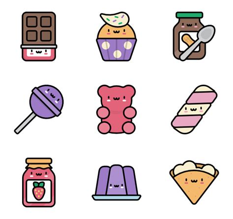 imagenes de iconos kawaii 35 candy icon packs vector icon packs svg psd png