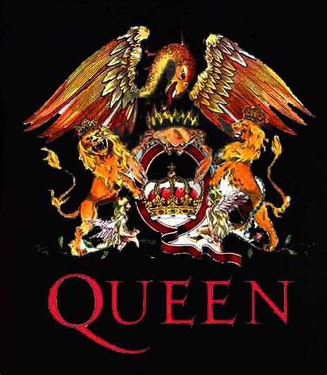 queen  shirt classic crest band logo freddie mercury