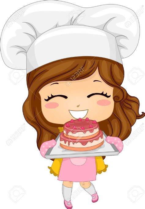 Clipart Gratis Animate 20040500 Illustration Of Baking A Cake