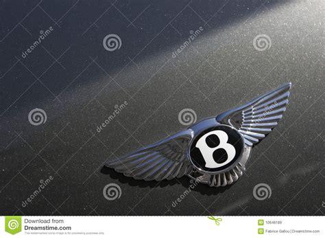 bentley motors logo bentley motors logo on green sport car editorial stock