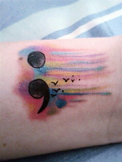 amazing and simple semicolon tattoo design incredible snaps