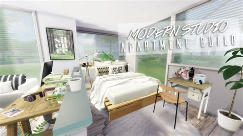 Studio And 1 Bedroom Apartments the sims 4 modern studio apartment speedbuild youtube