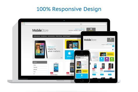 themes mobile store mobile store responsive e commerce magento theme website